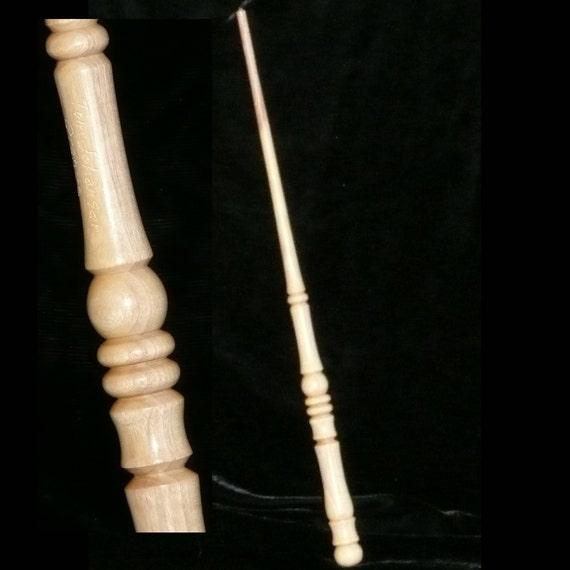 Orange handmade magic wand pagan wicca wizard fairy druid for Orange wand