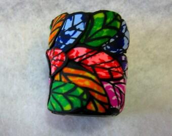 Dread Bead  Multi Colored Leaf  You Choose Hole Size