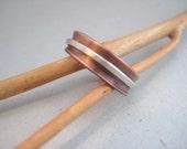 UNISEX Petite Copper Spinner Ring