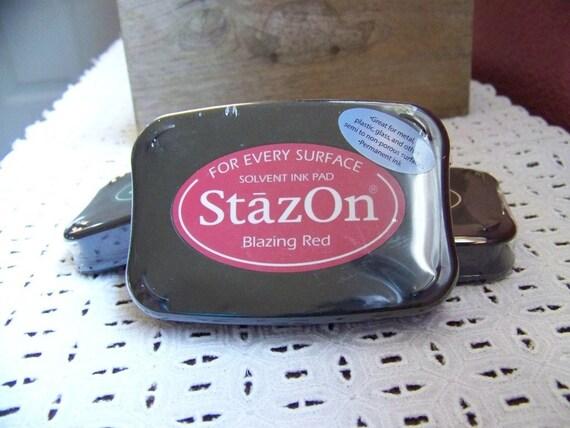 NEW Stazon Ink Pad- Blazing Red