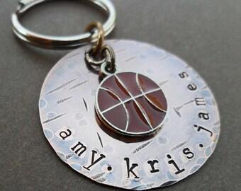 Personalized Basketball  Keychain- Custom Man Dad Father Gift - Sport Keychain - K15