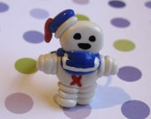 Stay Puft Marshmallow Man Ring, Ghostbusters NICKEL FREE