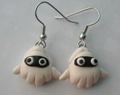 Blooper Earrings, Nickel Free, Super Mario READY TO SHIP