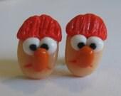 Beaker Stud Earrings, Muppets