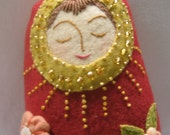 OOAK Wool Doll: The Peace Maker Doll RESERVED for Julia
