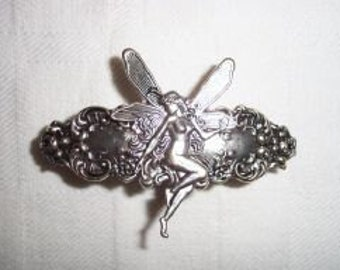 Silver Ornate Fairy Barrette