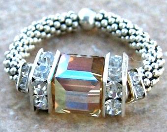 Dazzle Um Crystal Rings