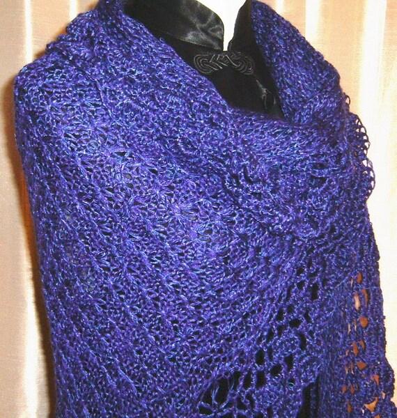 Loom Knit Shawl Pattern : Majestic Lace Loom Knit Shawl