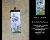 Glass Pendant - Fairy Queen - Butterflies - Mab of Dreams - by Stephanie Pui-Mun Law