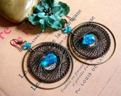Victorian Spiderweb Earrings
