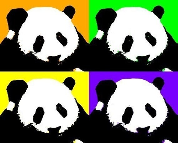 Panda Bear Pop Art Print
