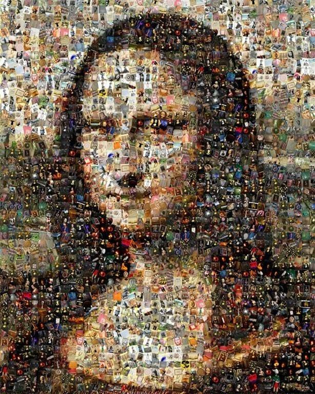 Mona Lisa Leonardo DaVinci mosaic montage collage art print
