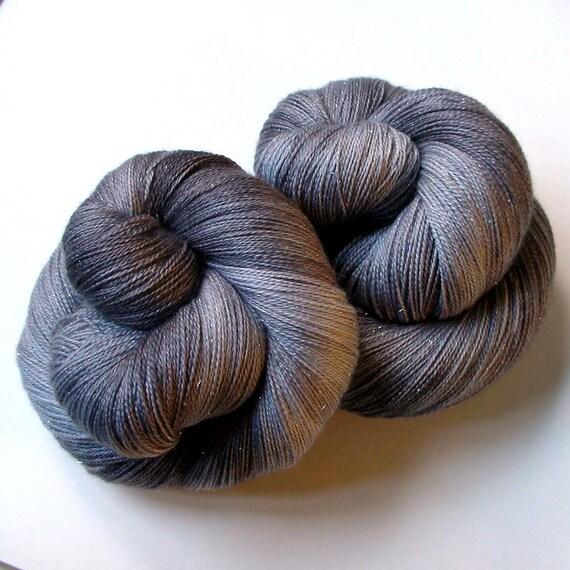 Glimmer Lace SW Merino and Silk Yarn - Totoro, 870 yards