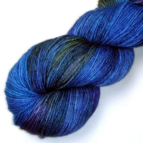 Pure Cashmere Fingering Yarn - Soft Peacock, 370 yards FREE SHIPPING
