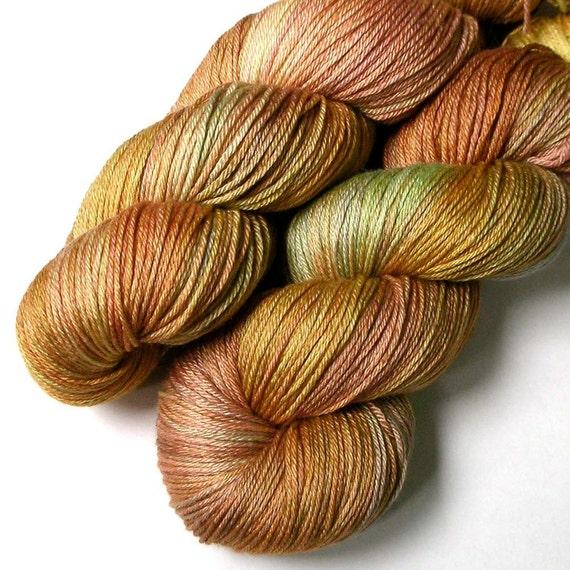Silky 50/50 Silk and SW Merino Fingering Yarn - Squash Blossom, 435 yards