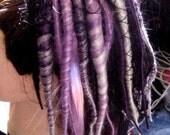 Amethyst Candy Dreadlock Drawstring Ponytail Hair Piece