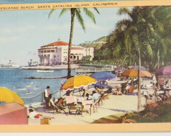 Two Vintage California coastline postcards