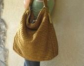 Last One Left NeNe Bags Living Large Hobo Bag in Honey Mustard (On Sale)
