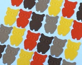 Owl Punches - 300 Hand Punched - 1 Inch Embossed Owls - Cardstock - Many Colors Available - See Listing for More Punch Shapes