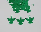 100 Hand Punched - Green Angels - Cardstock Punches - See Listing for 50 Other Punch Options - Many Colors and Punches Available