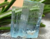 Twinned Aquamarine Specimen, Natural Rough Crystal From Erongo, Namibia