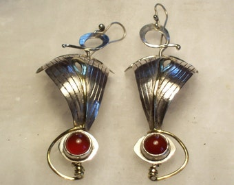 IN FULL SAILS 5 - Silver Earrings with stones