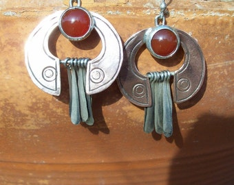ZITHER - Copper Earrings