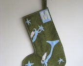 Custom Felt Mermaid Christmas Stocking