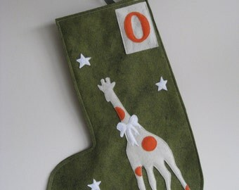 Personalized Giraffe Stocking