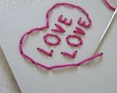 Sewn SEW IN LOVE card