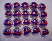 Hat Hats Hand painted glass gems purple hats red bow party favors