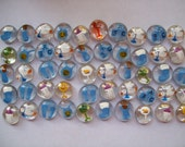 Hand painted glass gems party favor baby shower  baby boy