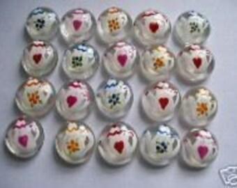 Hand painted glass gems party favors mini art teapots teapot  tea pots