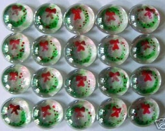 Hand painted glass gems party favors christmas decorations   WREATHES WREATHE