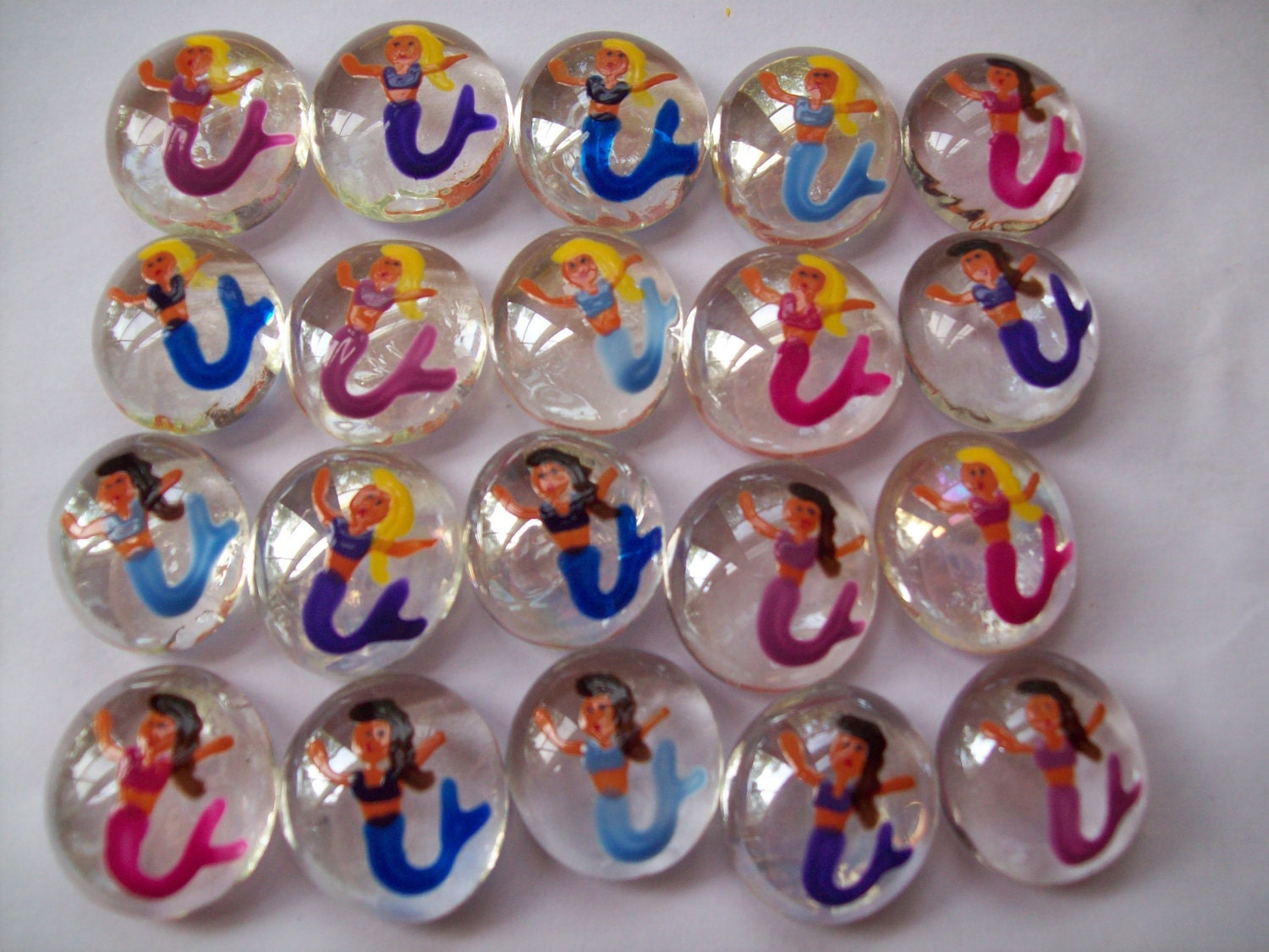 Handpainted glass gems for crafts party decorations favors for Glass jewels for crafts