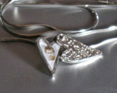 Handmade, tiny, romantic, magnetic, silver heart locket ,statement, Valentine's day, gift