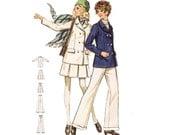 Uncut Vintage 60s Sewing Pattern Double Breasted Jacket Pleat Skirt Slacks Pants Suit Separates Unused size 14 Bust 36 Large Butterick 5516
