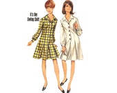 Vintage Sewing Pattern 60s Princess Shift Dress Shirtwaist bust 38 Large