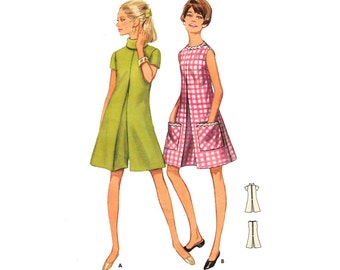 Vintage Sewing Pattern Scooter Romper Pantdress Divided Skirt size Medium Butterick 4527