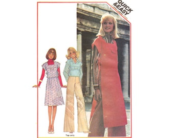 Vintage Sewing Pattern 70s Tunic Skirt 2 Piece Dress Uncut size 14 Large Bust 36 McCall's 5209 Quick Easy Fast Beginner Unused