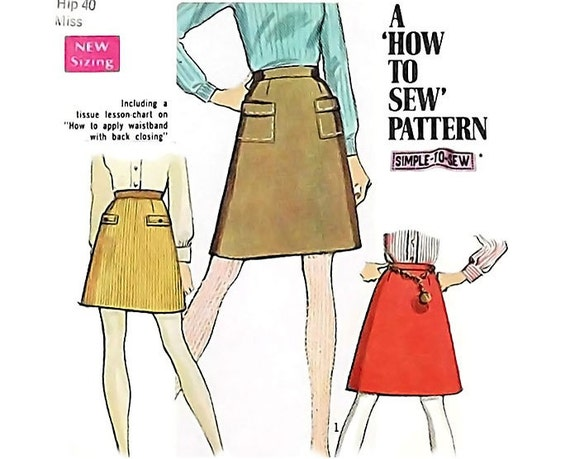 To draft an A line skirt in this most basic method the sweep should be no wider than 3 inches on the quarter pattern, giving a total hem sweep of 12 inches. Drawing the Pattern Cut a piece of paper 5 inches longer then desired skirt length and about 10 inches wider than the front and back of the skirt measurements.