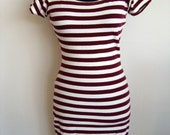 80s vintage Striped T-Shirt Dress