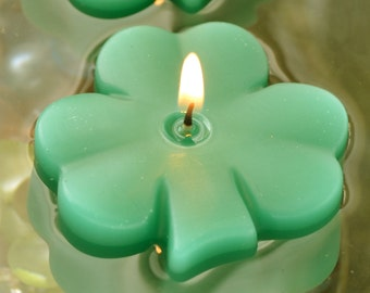 4 pack Shamrock candles for weddings parties