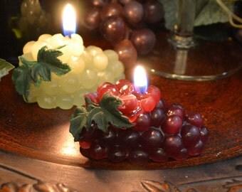 Grape vine candles Set of 4