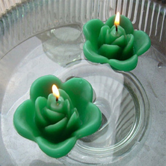 Floating Rose Centerpiece: Items Similar To 12 Kelly Green Floating Rose Wedding