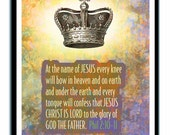 Lord of All, christian Wall decor - 8.5x11 Print, Scriptures, Religious Gift, Bible Verse, Christian Wall Art, Christian, Bible text, Jesus