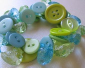 Green and Blue Chick Bracelet  SALE  SALE