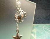 Starfish and Sterling Silver Crab Belly Button Ring