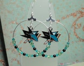 NHL  Hoop Earrings - San Jose Sharks