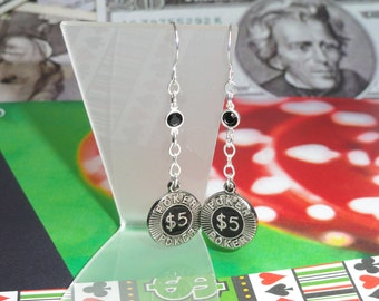 Poker Chip Earrings